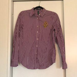 Lauren by Ralph Lauren - Crest Button Down Shirt